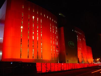 uitlichten gebouw