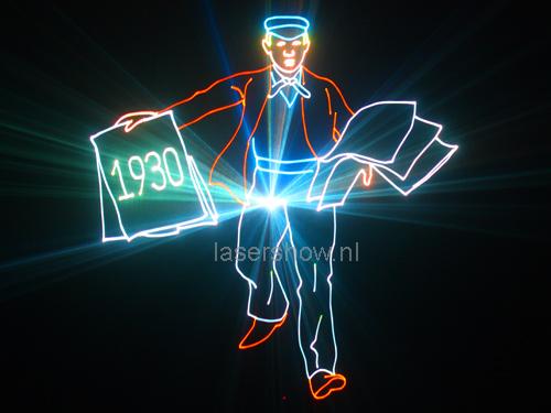 lasershow Leger Des Heils 125 jaar