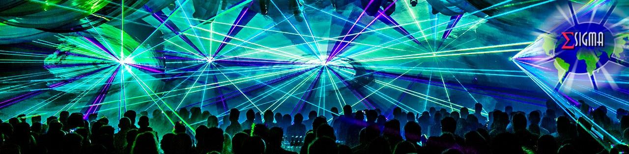 lasershow header blauw