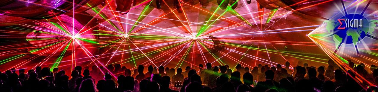 lasershow header oranje