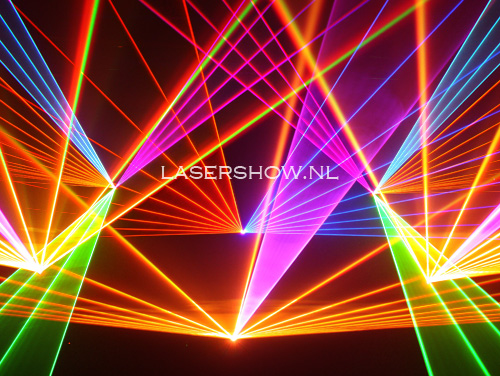 lasershow en laserstralen