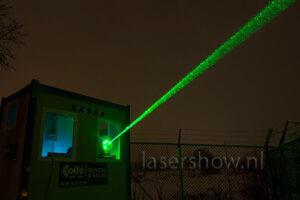 logo projectie opbouw laser apparatuur